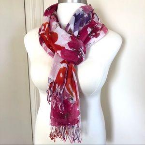 American Eagle Lightweight Floral Woven Scarf